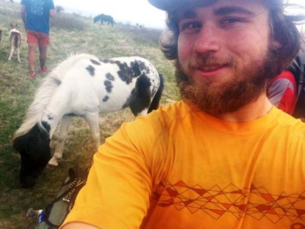 Lucas Varnadore in Grayson Highland, Va., where he encountered a group of wild ponies.